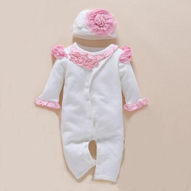 ad83217c64d13 קנו בנות ' בייבי בגדים | 4pcs/Set New Born Baby Girl Clothes Romper ...