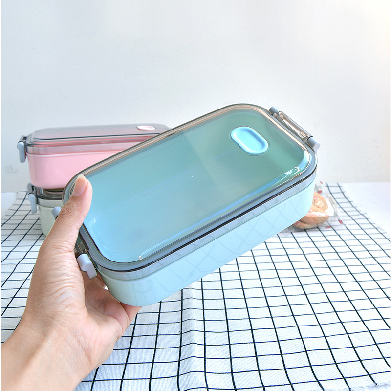 Simple Portable Fashion Creative Lunch Box Korean Lunch Box Plastic Food Containers Microwavable Kitchen Accessories in Lunch Boxes from Home Garden