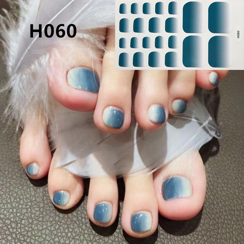 2019 New Designs Foot Toe Nail Sticker Fashion Nail Art Polish Full Cover Waterproof Adhesive Foil Stickers Manicure Predesigned in Stickers Decals from Beauty Health
