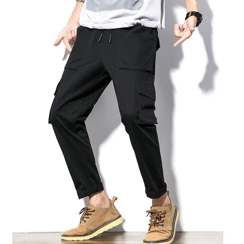 Männer Casual Hosen 97% Baumwolle Slim Fit Männer Sommer Hose Grau Armygreen Schwarz Streetwear Business Casual Hosen Männer 5xl Hk71 Neueste Mode Mutter & Kinder