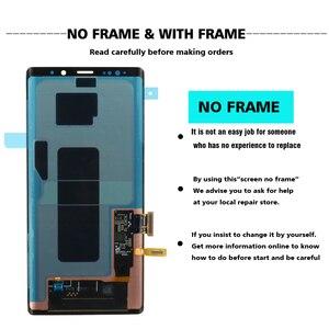 Image 2 - ORIGINAL SUPER AMOLED 6,4 LCD mit rahmen für SAMSUNG GALAXY Note 9 Note9 N960F Display Touchscreen Digitizer Montage