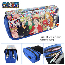 Anime One Piece Luffy Zero Boys Girls Cartoon Pencil Case Bag School Pouches Children Student Pen Bag Kids Purse Wallet Gift
