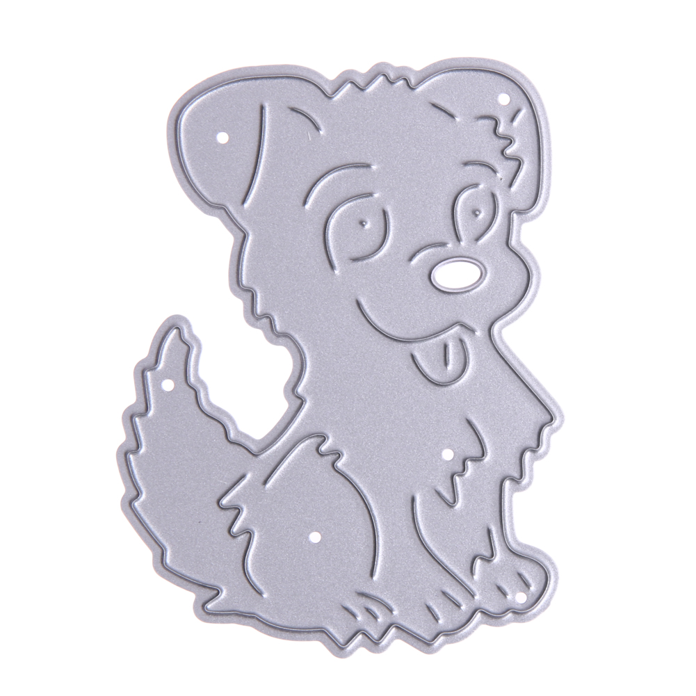 Cute Dog Metal Cutting Dies Stencils DIY Embossing Scrapbooking for DIY Die Cut Stencil Decorative Scrapbooking Craft Card Decor