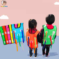 Children School Catch Tails Games Activity Kindergarten Educational Waistcoat Outdoor Toys Sports Colorful Vest Kids Toys