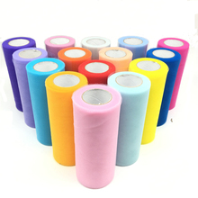 25 yards 15 센치메터 튈 롤 Fabric Spool 투투 Wedding Decoration Baby 샤워 Organza 레이저 DIY 공예 Birthday Party 용품(China)
