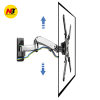 NB F450 Gas Spring 40 50 LED LCD TV Wall Mount Full Motion Monitor Holder Arm