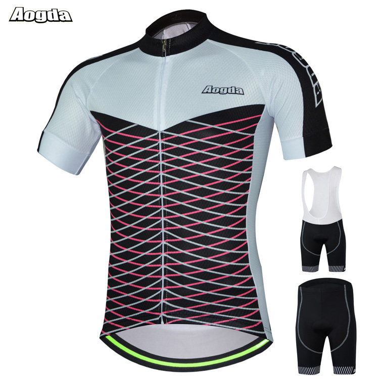 AOGDA Original Design Spring Autumn Cycling Jersey sets Men Women Bike Wear Clothing Bicicleta  Bright Short Sleeve Sport Cloth cycling jersey womenpurple flowershort sleeve cycling clothing women cycling jersey cycling sets x608