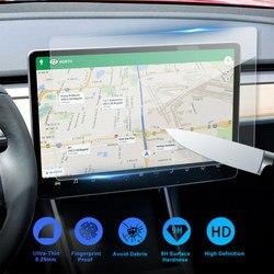 1 шт. 15 дюймов Tesla модель 3 автомобильный экран протектор прозрачное закаленное стекло экран протектор для навигации защитные аксессуары