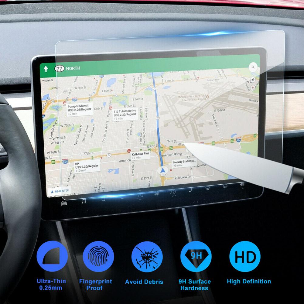 1 pcs 15 pollici Tesla Modello 3 Auto Protezione Dello Schermo Trasparente In Vetro Temperato Protezione Dello Schermo per la Navigazione Accessori di Protezione
