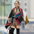 Free Shipping! Hot Sale! 2016 A/W Luxe Cashmere Wool Colour Block Check Blanket Poncho Scarf Wraps Women Shawls