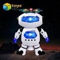 Lindo Espaço Andando Robô da Dança para Crianças crianças Música Elétrica Inteligente Luz Modelo Seguro Brinquedos Animais Presente