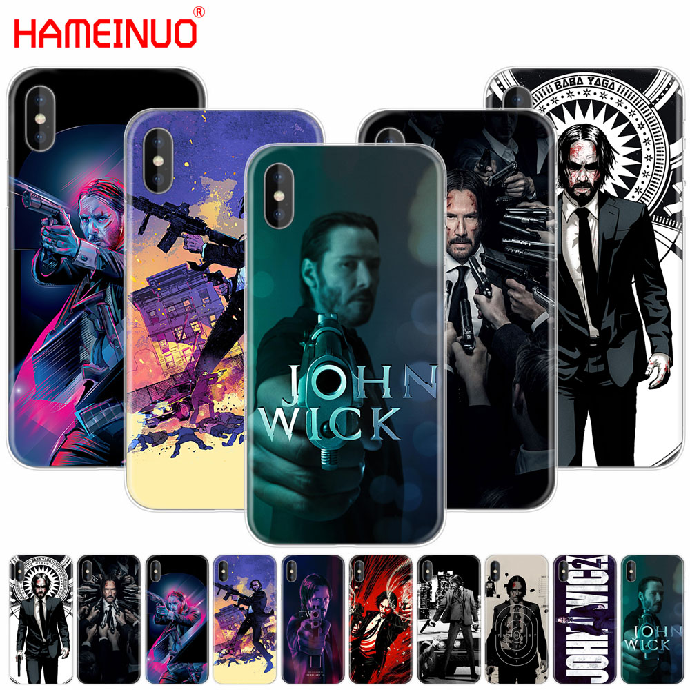 HAMEINUO John Wick cell phone Cover case for iphone X 8 7 6 4 4s 5 5s SE 5c 6s plus ...