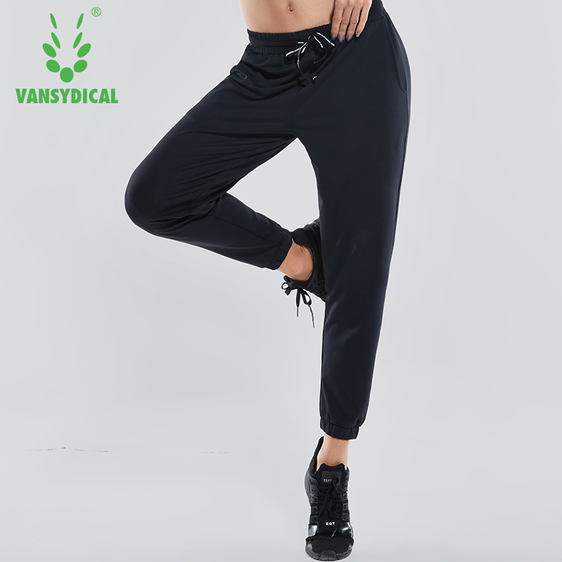 Vansydical 2018 Women Drawstring Running Pants Loose Training Excise Trousers Breathable Fitness Gym Sports Pants ...