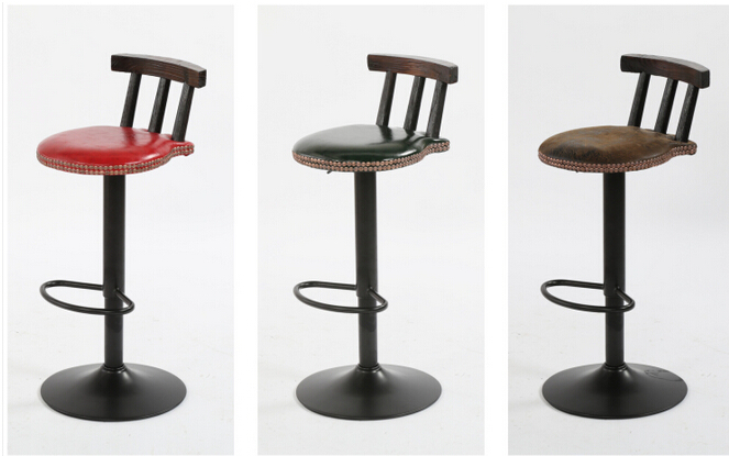American retro bar chair. The bar chair. Lifting swivel chair. the bar chair hairdressing pulley stool swivel chair master chair technician chair