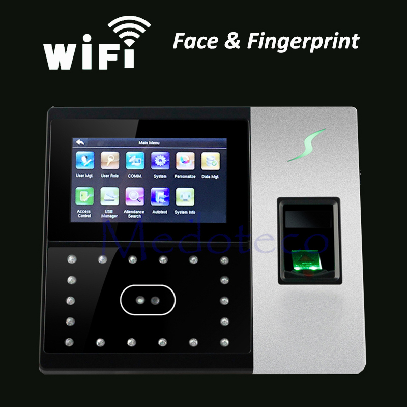 Iface702 Wifi Face Time Attendance Door Access Control System Network TCP/IP RJ45 Office Time Clock Fingerprint Punching Device
