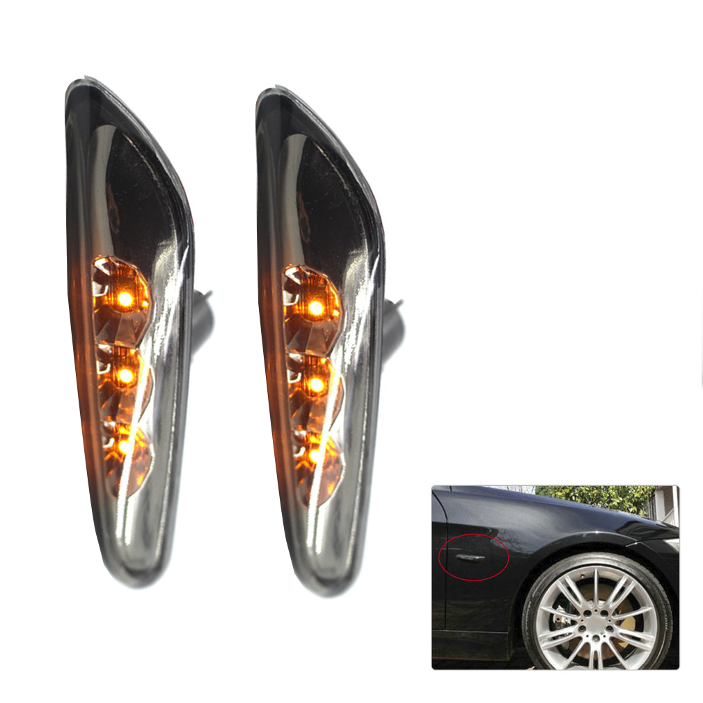 New 2pcs Auto Car Side Marker Lights Turn Signals Indicator LED Brake Light for BMW 3 Series E46 E90 E92 E93 Z4 free shipping 2x led turn signal side light auto parts led side marker car accessories with m logo for bmw e46 02 05 4d 5d