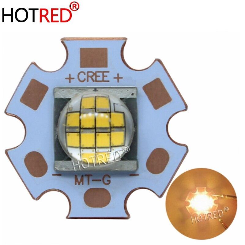 5PCS Cree MT-G MTG LED Warm White 18W~24W 3000K  DC36V LED Light For Spot Light On 20mm Copper  PCB