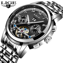 hot deal buy lige automatic mechanical mens watches top brand business watches mens stainless steel sport waterproof watch relogio masculino