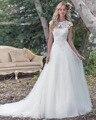 Dreagel Novos Produtos Listados Princesa Do Vestido de Casamento de Luxo Requintado Apliques Sexy Backless de Organza E Tule A Linha de Vestido de Noiva