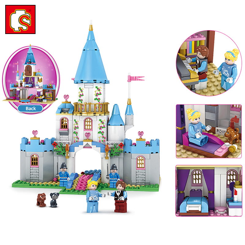 531PCS Girls Friends Series Cinderella's Romantice Castle Figures DIY Building Blocks Bricks Compatible Legoed Kids Toys Hobbit rtm875t 531