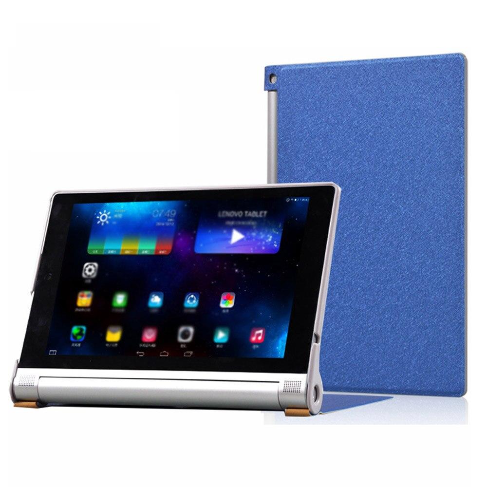 ★  Чехол для планшета Lenovo YOGA Tablet 2-830L с шелковым рисунком из искусственной кожи Funda Lenovo  ✔