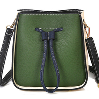 Women Bag Female Handbags Leather Bucket Crossbody Shoulder Bags String High Quality Handbag Fashion Red Sling