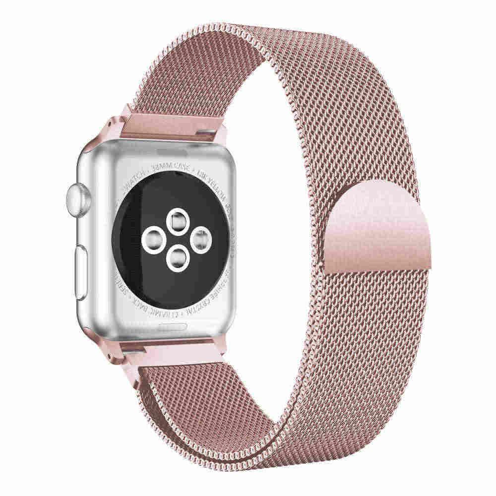Yeni Milanese Döngü Bantları Apple Için İzle serisi 1/2/3 42mm 38mm 40mm 44mm Paslanmaz Çelik Bilezik saat kayışı izlemek Için 4 film