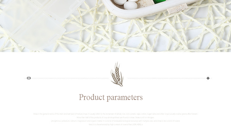 Natural-fibre travel medication organizer