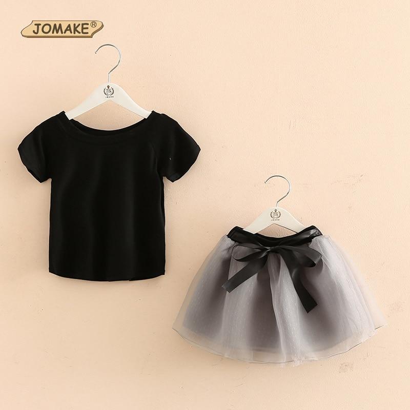Girls Clothing Sets Cotton Casual Children Clothing Set Short Sleeve T-Shirt+Tutu Skirt 2Pcs Costume For Kids Baby Girl Clothes