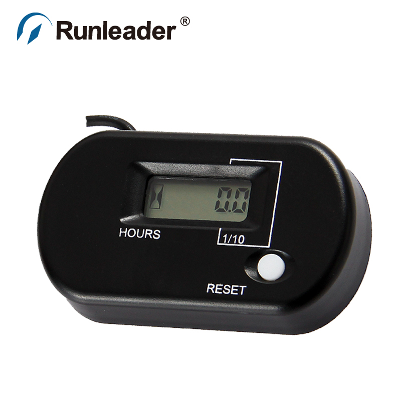 RL-HM025 Digital Resettable Inductive Running Hours Meter Maintenance Service Reminder Gasoline Engine Hour Meter for jet ski