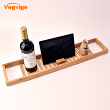 VOGVIGO Bamboo Bathroom SPA Multi-function Bathtub Creative Shelf Rack Large  Accessories