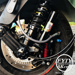 Image 5 - Motorcycle shock absorber rear ahock absorbre For piaggio vespa GTS 300 GTV 300 Front shock absorber