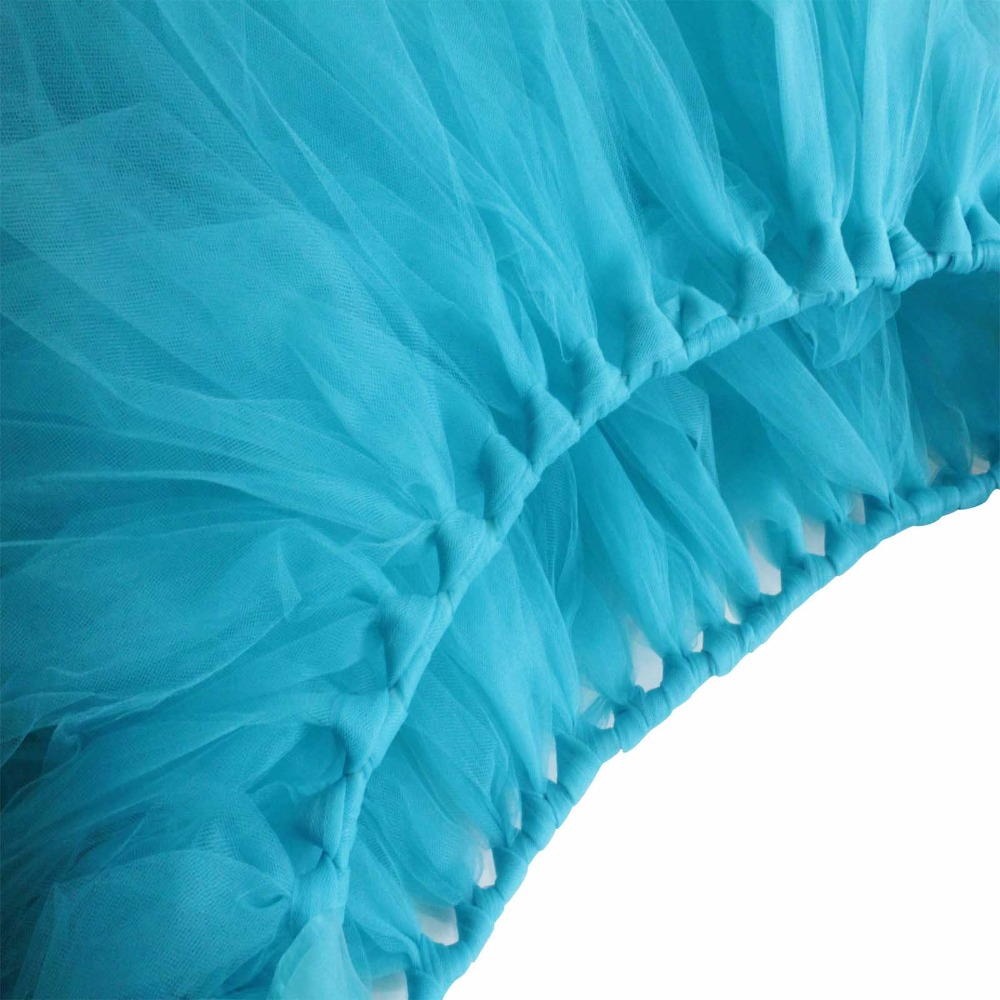 5pcs Lot 10080cm DIY Tulle Tutu Table Skirt Baby Shower Birthday Skirts Wedding Favors Party Decoration Home Textile In From