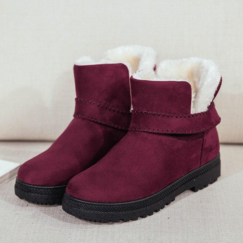 Las Plataforma Una Botas 4 Para Moda Botas; Plana negro De Suela En Zapatos gris Tobillo Mujeres Calientes Colores Nieve 2018 rojo Invierno Beige qIvxfdxw