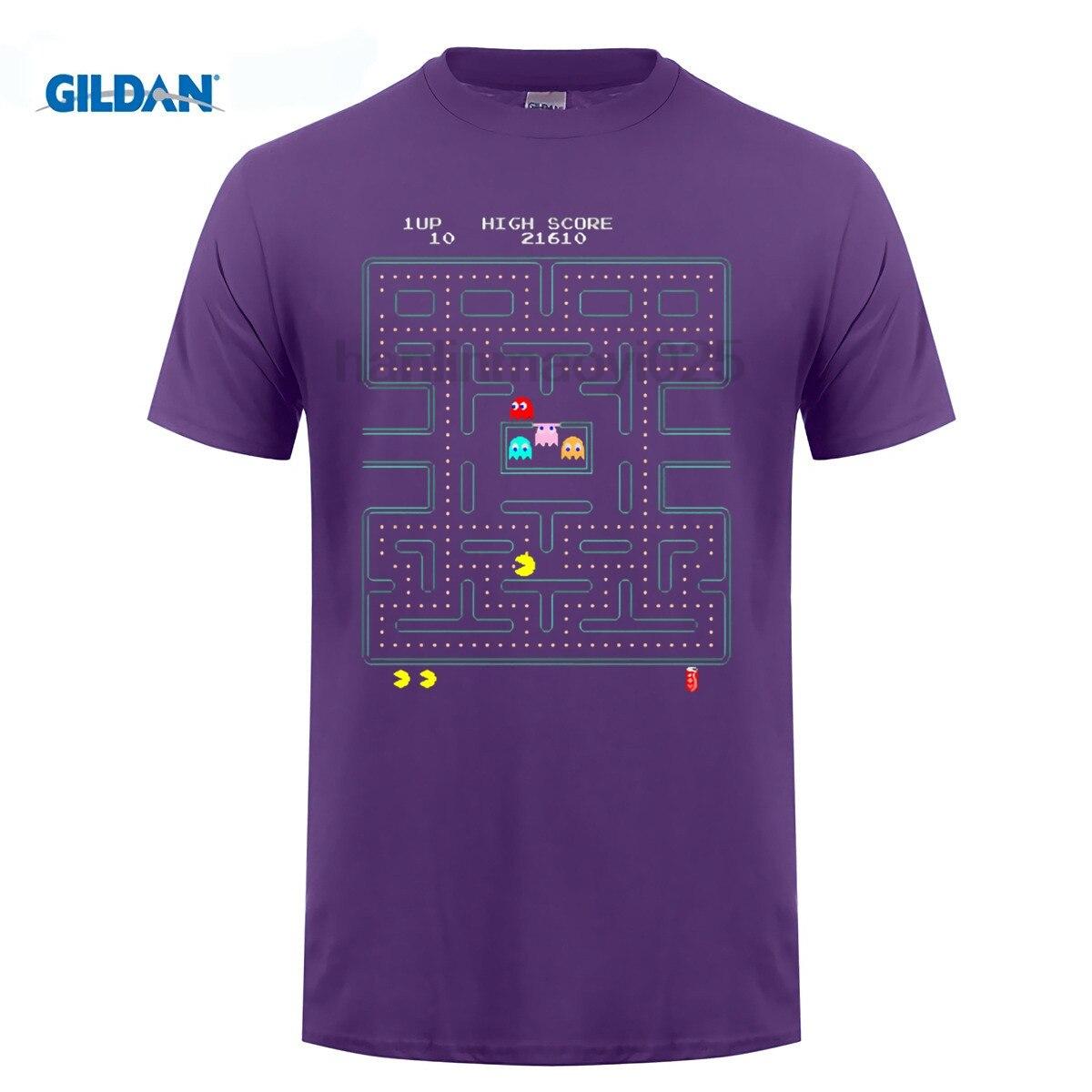 GILDAN Pac man T Shirt (2) Hop No Buckle Men Simple Shop Video game quality effect T-shirt