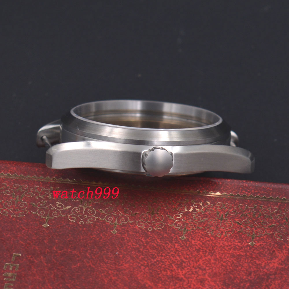 41mm Silber Stahl Uhr Fall Fit ETA 2836, Mingzhu/DG 2813/3804, Miyota 8205/8215-in null aus Uhren bei  Gruppe 3