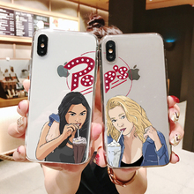 American TV Riverdale Betty and Veronica Friendship Soft TPU case Phone Cover For iPhone MAX XR XS X10 5 5S 5SE 6 6SPlus 7 8Plus