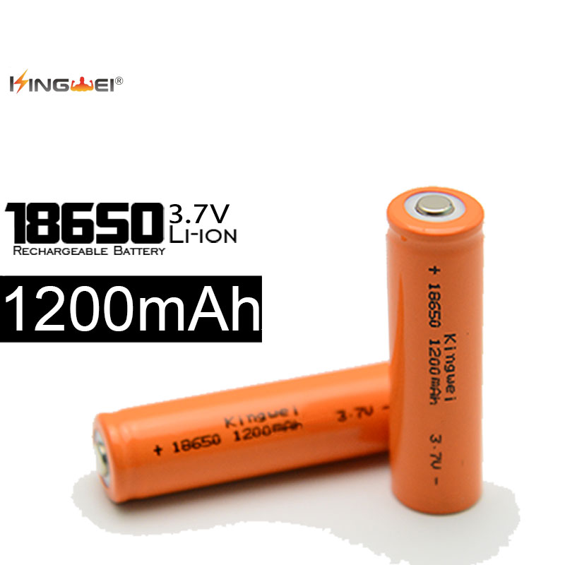 2018 New KingWei 18650 Battery Orange 1200mah 3.7 v Li ion Rechargeable 18650 Lithium-ion Battery