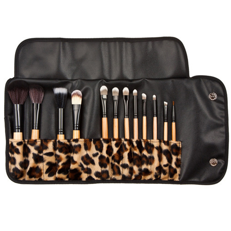 2 Set Professional Makeup Kits Brush Cosmetic Face Make Up Set Tools With Leopard Bag Makeup Brush Tools Hot Sales hot sale 2016 soft beauty woolen 24 pcs cosmetic kit makeup brush set tools make up make up brush with case drop shipping 31