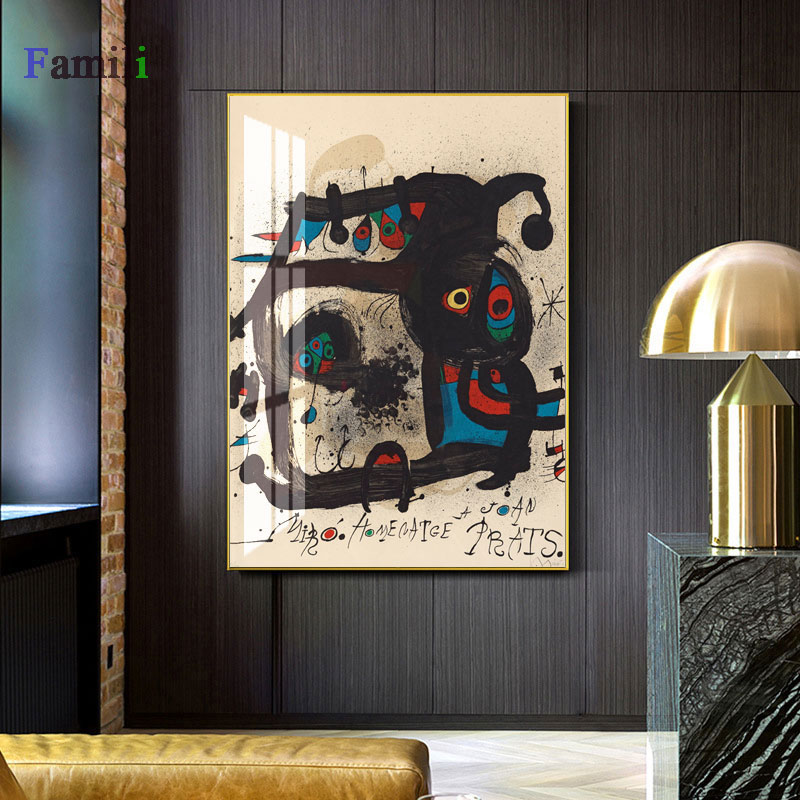 Joan Miro affiche classic Summary Watercolor Wall Artwork Posters And Prints Well-known Canvas Portray Dwelling Room House Ornament Portray & Calligraphy, Low cost Portray & Calligraphy, Joan Miro affiche...