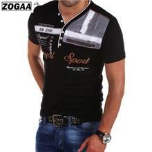 цена Lake Blue Men T-shirt V-neck Short Sleeve 2018 Fashion Letter Printer Cotton New Top Tee Male T Shirt Clothing big size XXXXl онлайн в 2017 году