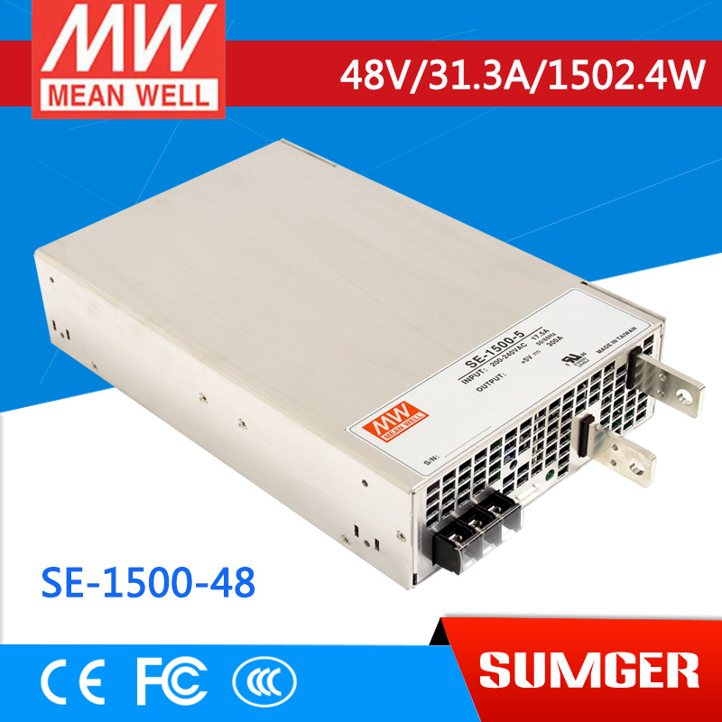 [NC-C] MEAN WELL original SE-1500-48 48V 31.3A meanwell SE-1500 48V 1502.4W Single Output Power Supply [mean well] original se 1500 12 12v 125a meanwell se 1500 12v 1500w single output power supply