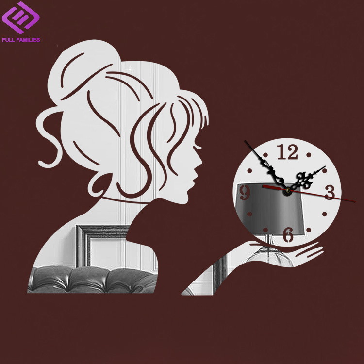 aliexpress.com : acquista beautyl ragazza specchio orologio da ... - Orologio Da Parete Per Cucina