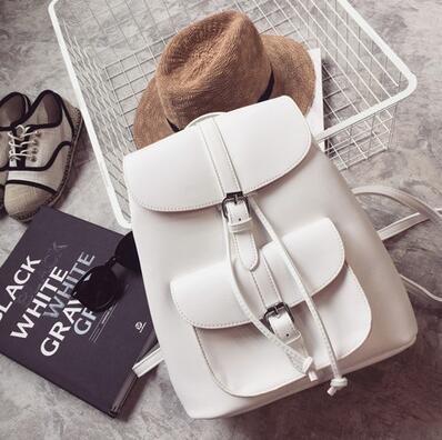 Hot-sale Miyahouse Trendy Female Drawstring Pu Leather Backpacks Teenagers Girl School Bag Women Casual Rucksack Easy To Lubricate Backpacks