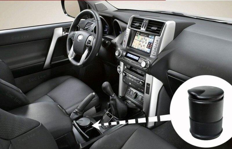Универсальный Черный Автомобиль Мундштук <font><b>LED</b></font> Пепельница Авто Портативный Сигареты Автомобиля Пепельница Стайлинга Автомобилей [$1.5 СКИДКА н&#8230;