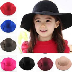 VORON Vintage Retro Girl Hats Fedora Felt Wide Brim Cap f31c2b8bf64d