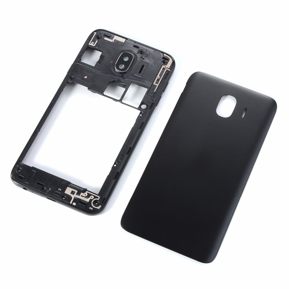 Original For Samsung Galaxy J4 2018 SM-J400 J400F J400FN J400DS J400G Phone Housing Middle Frame+Battery Back Cover