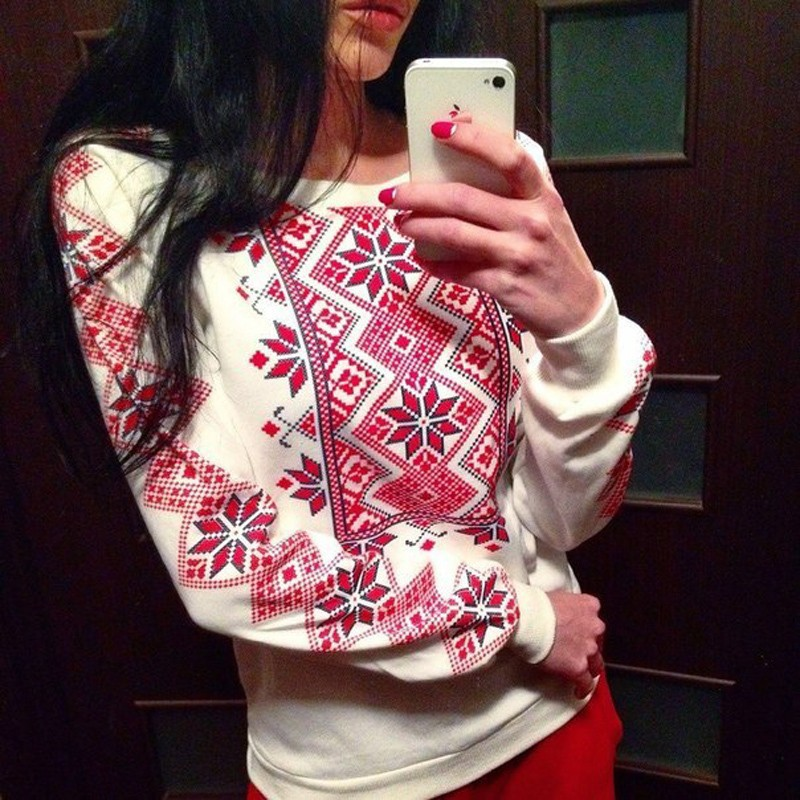Red Flower Plaid Hoodies Sweatshirts 2019 Women Casual Kawaii Harajuku New Sweat Punk For Girls Clothing European Tops Korean