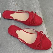 купить Moxxy New Arrival Women Elegant Outdoor Mules Women Rubber Low Heels Flip Flop Bow-Knot Slippers Shoes Women Flats Shoes Slip on по цене 949.02 рублей