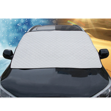 Car Windshield Cover Universal Rain Snow Cover Sun Shade Protection Auto Car SUV Cover with Magnetic Suctions and Elastic Straps intro tech automotive lx 22 s windshield snow shade